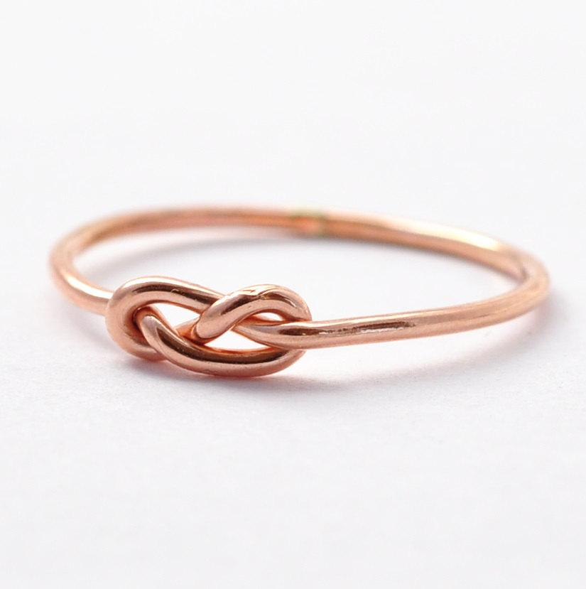 Свадьба - Rose Gold Infinity Ring: Christmas Gifts for Friends