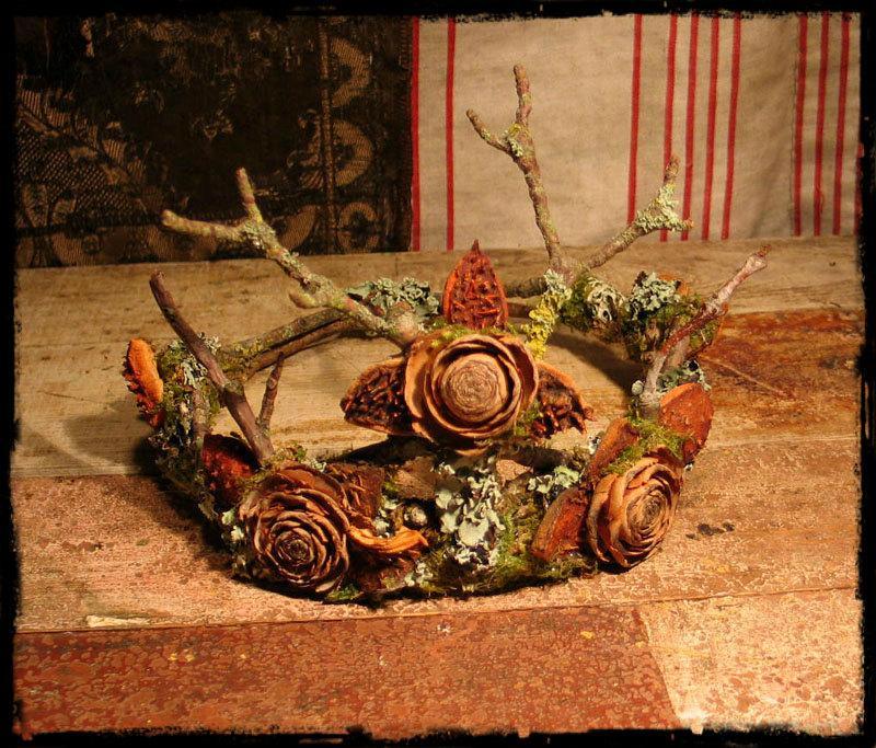 زفاف - Faery Crown of natural materials Custom Order