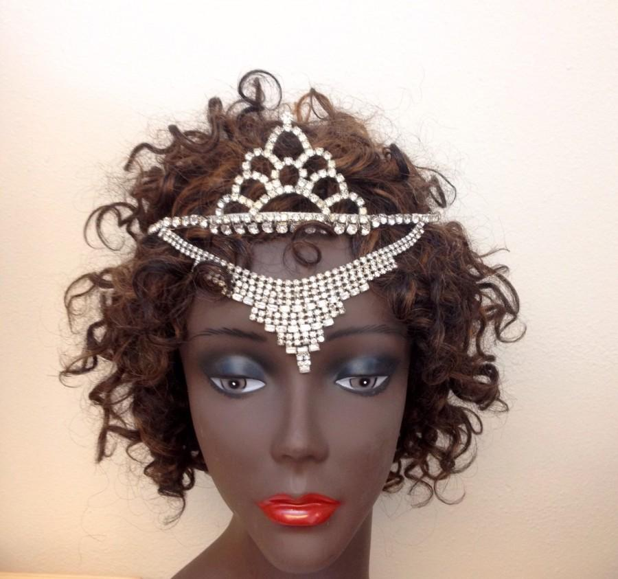 Wedding - Embella-Vintage Couture Rhinestone Tiara Majestic Headpiece- CRBoggs Designs Original Design