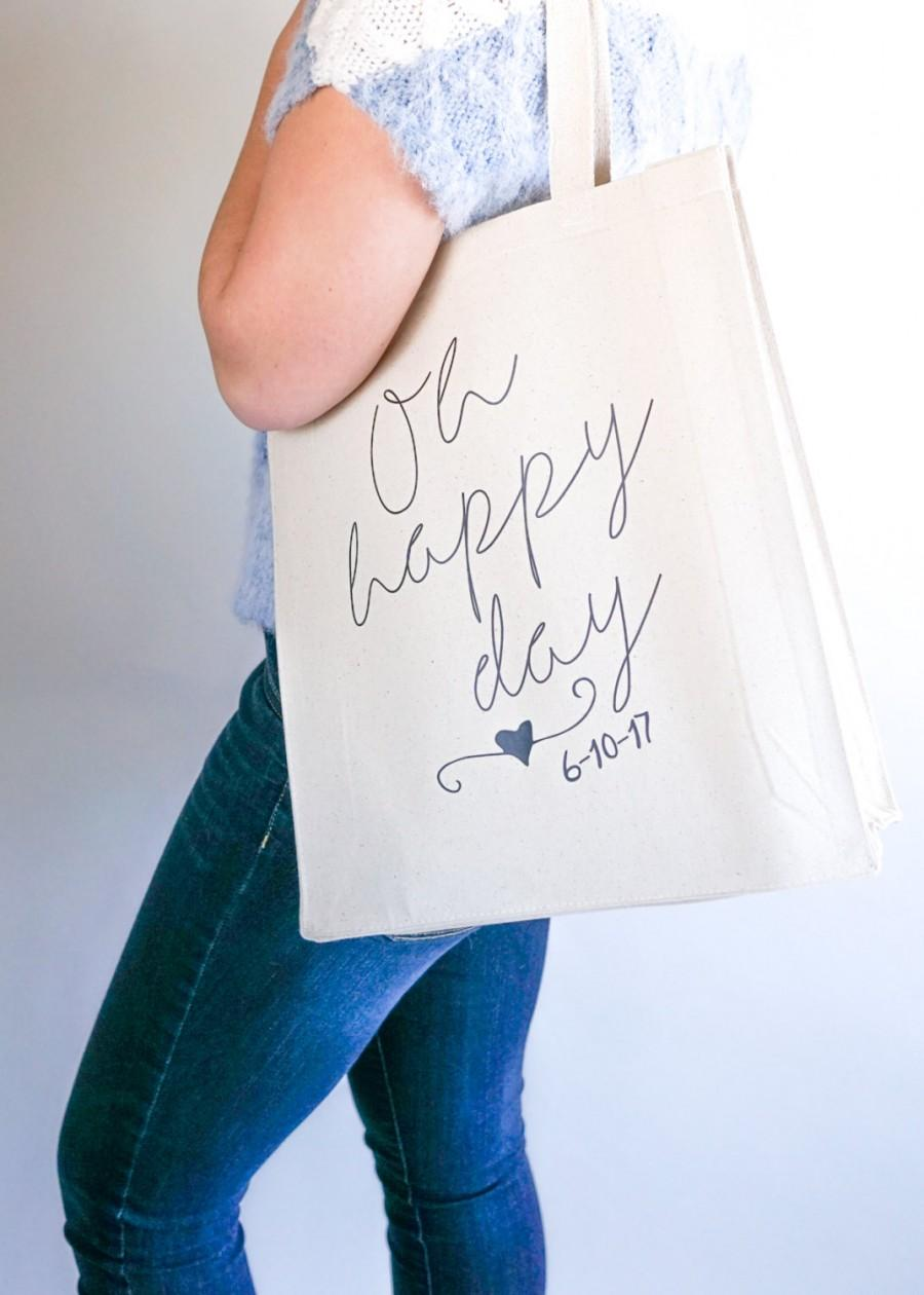 Wedding Tote Day Bag Oh Happy Bags For Bridesmaids Bridal Party Gift Brides