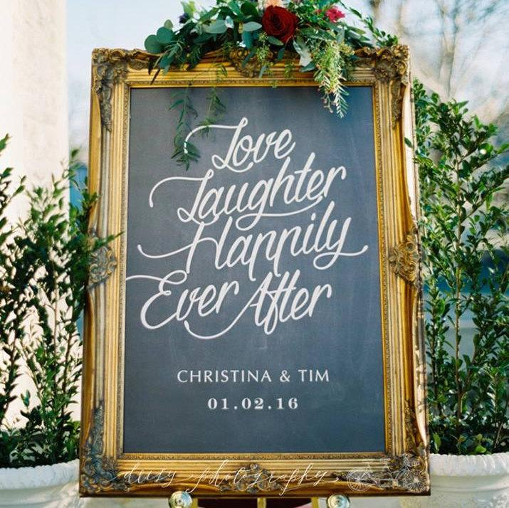 Mariage - PRINTABLE Wedding Sign, Love Laughter Happily Ever After, Personalized Large Wedding Sign, Chalkboard Engagement Party Sign, Wedding Welcome