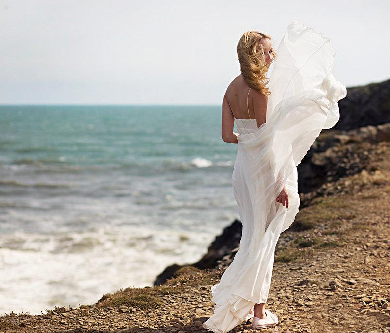 Romantic Wedding Dress Bohemian Wedding Dress Boho Beach Wedding ...