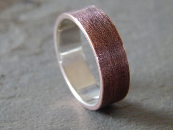 Wedding - 4 to 8 mm TEXTURED COPPER Band // Men's Wedding Ring // Women's Wedding Ring // Men's Wedding Band // Women's Wedding Band // Unique Band