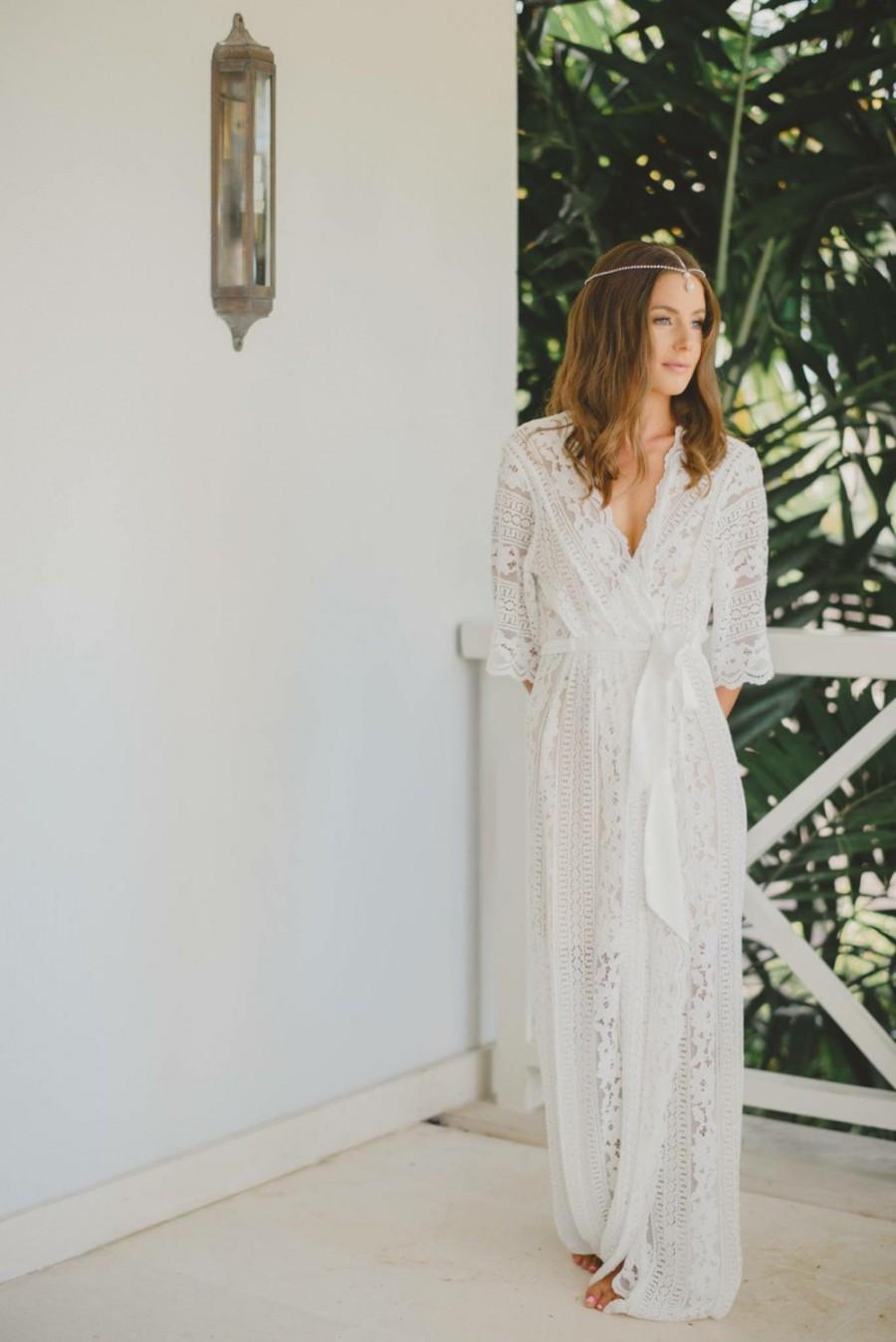 a few days away save up to 60% official Lace Bridal Robe // Bridesmaid Robes // Robe // Bridal Robe ...