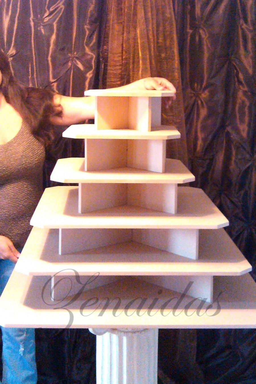 Cupcake Stand XX Large 275 Cupcakes MDF Wood Threaded Rod And Freestanding  Style Cupcake Tower Stand Wedding Stand DIY Project