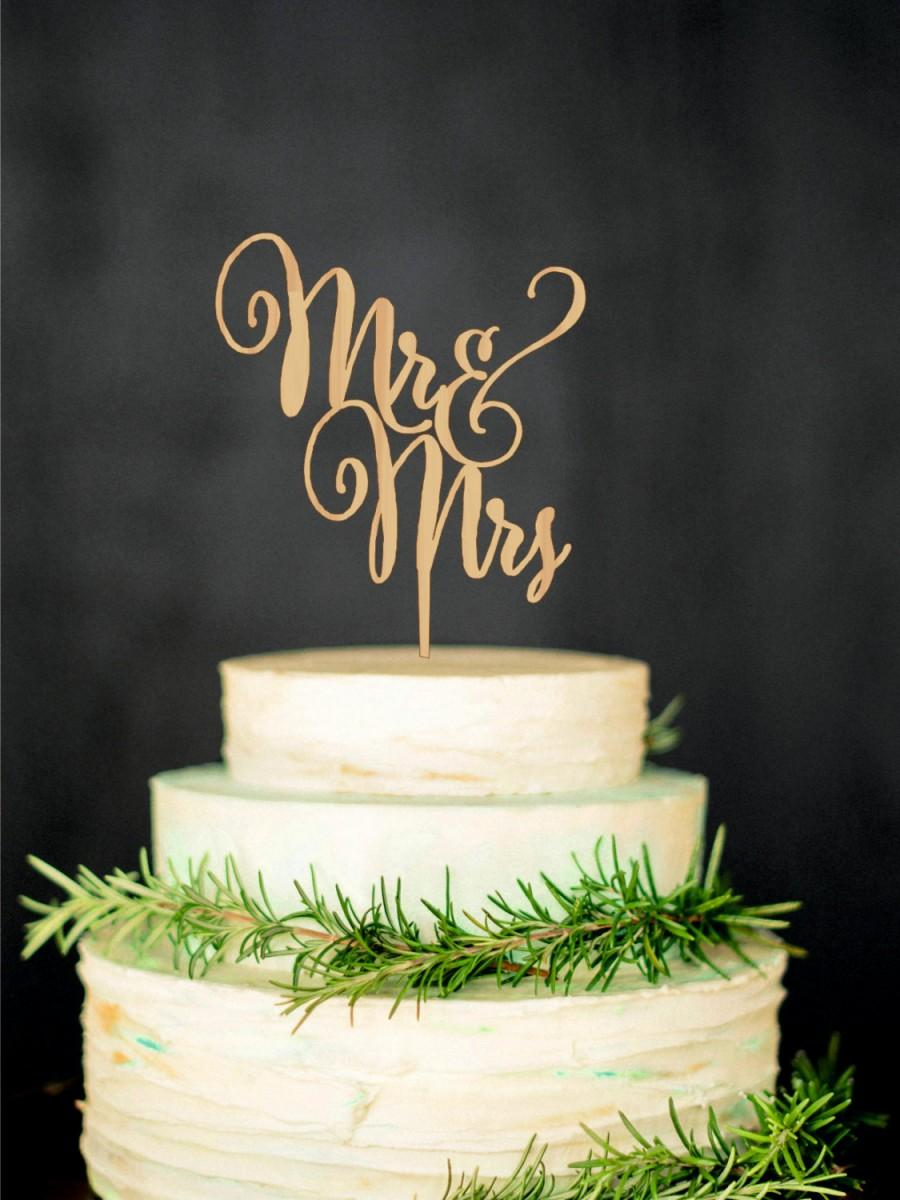 Mariage - Mr Mrs Wedding Cake Topper Wood letter topper Wood Cake Topper Custom Wedding Topper