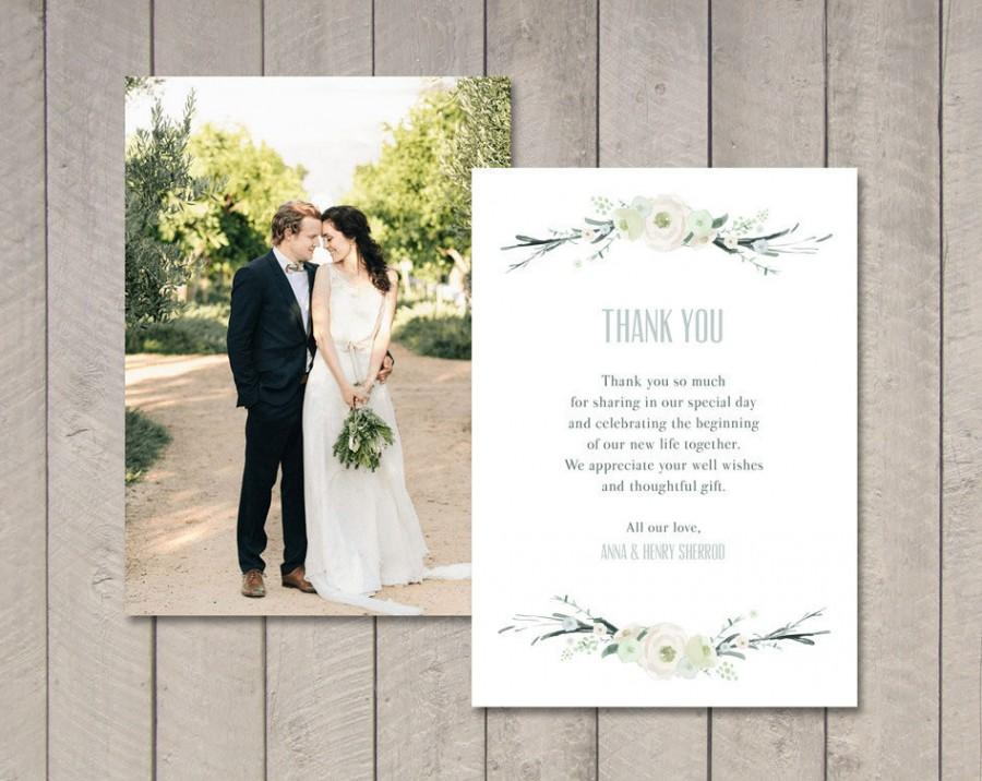 Hochzeit - Vintage Floral Wedding Thank You Card (Printable) by Vintage Sweet