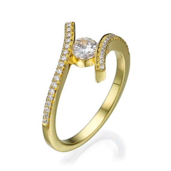 Mariage - Engagement ring - Promise ring - Statement ring - Wedding ring - Diamond ring - Rose gold ring - Bridal ring - 14k gold ring