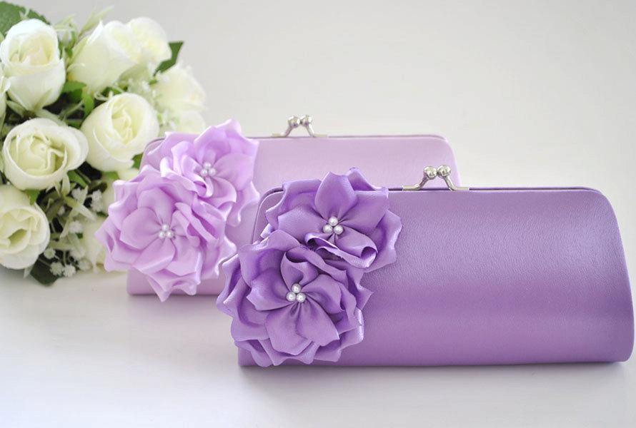 Mariage - Lavender / Light Lavender - Bridesmaid Clutch / Bridal clutch - Choose the color you like
