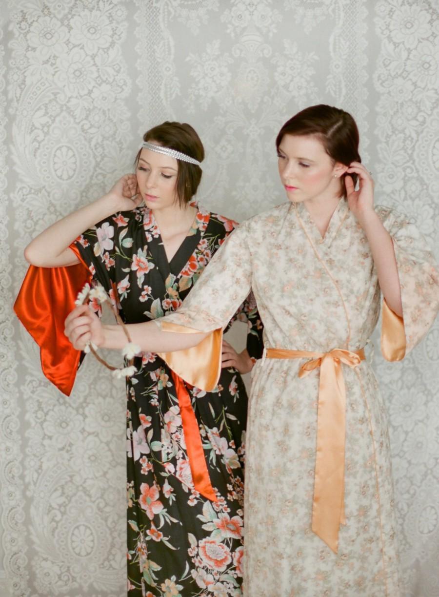 The Angel And The Haiku. 4 Custom Long Bridesmaids Robes. Bridal ...