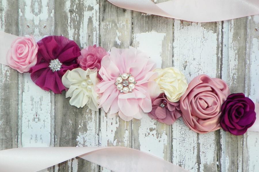 Свадьба - Design Your Own Sash, Flower Girl Sash, Bridesmaid Sash, Flower Belt, Maternity Sash, Wedding Sash, Bridal Belt, Junior Bridesmaid Sash