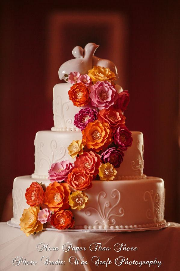 Mariage - Paper Cake Flowers - Flower Wedding Cake - Paper Flowers - Cake Flowers - Made To Order - Custom Colors Available