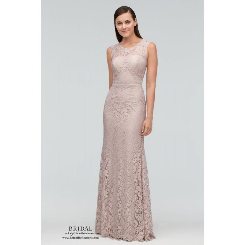 Wedding - Watters 9253 - Burgundy Evening Dresses