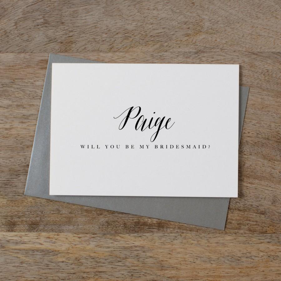 زفاف - Personalised Bridesmaid Card, Custom Bridesmaid Card, Will You Be My Bridesmaid Card, Maid Of Honor Card Bridesmaid Proposal Card Wedding K7