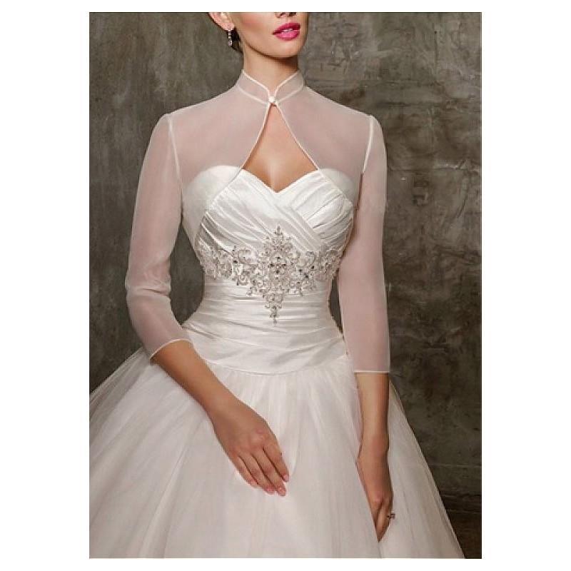 Wedding - Pretty Organza Women's Jacket Match Your Fabulous Dress - overpinks.com