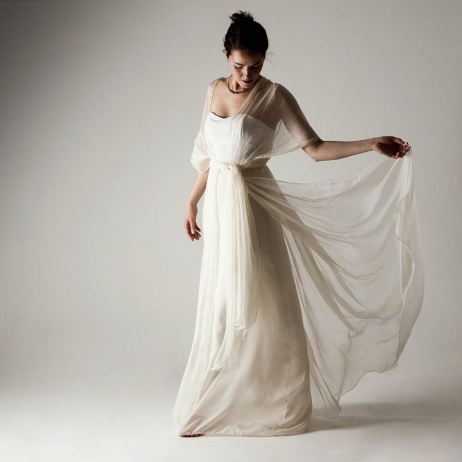 Wedding Dress, Boho Wedding Dress, Infinity Wedding Dress, Silk ...
