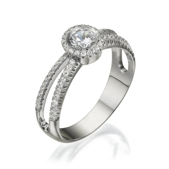 Wedding - Engagement ring - Promise ring - Statement ring - Wedding ring - Diamond ring - Rose gold ring - Bridal ring - 14k gold ring