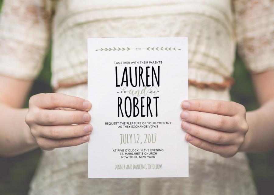 Mariage - Wedding invitation template