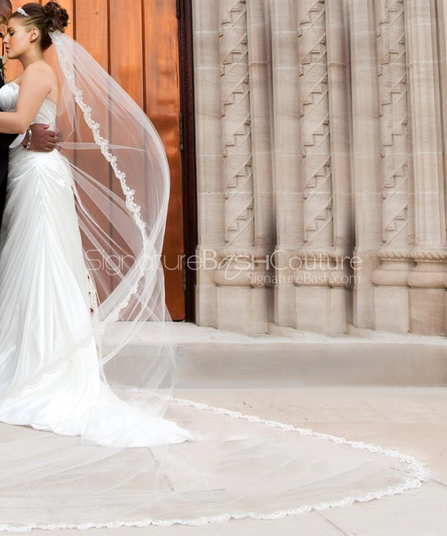 Wedding - Lace Edged Cathedral Veil