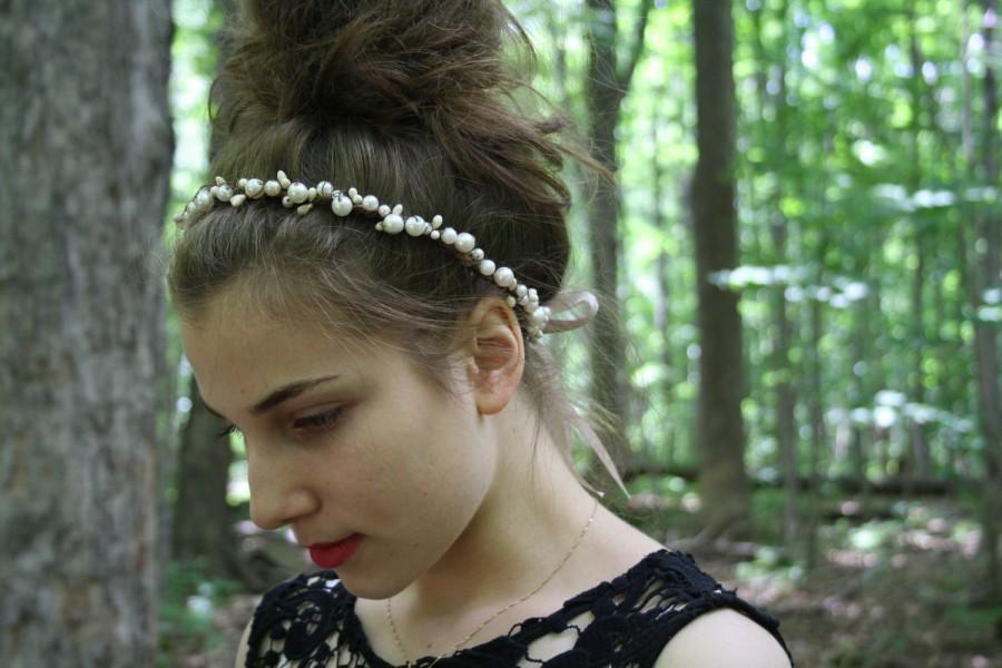 زفاف - Flower crown Festival floral crown Rustic bridal circlet boho hippie flower halo Woodland wedding flower crown elven flower headband SPARROW