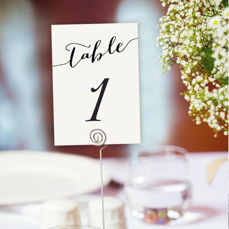 Table Numbers Printable 1 40 Template In Two Sizes Wedding Seating Number Cards Editable