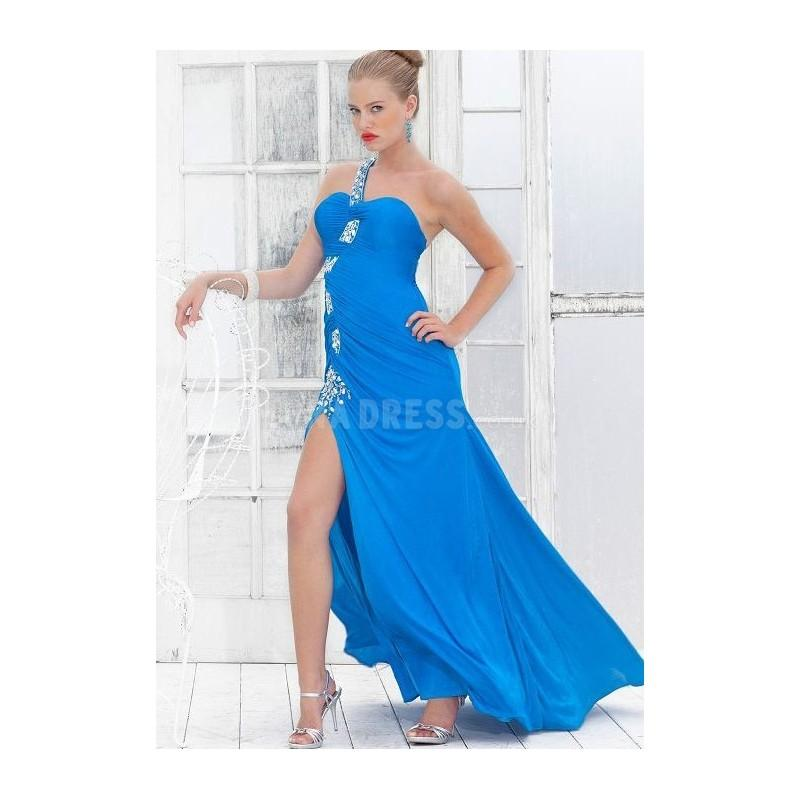 Mariage - Attractive Chiffon One Shoulder Floor Length A line Prom Dresses - Compelling Wedding Dresses