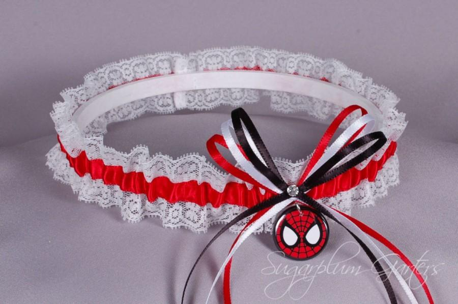 Mariage - Spider-Man Lace Wedding Garter