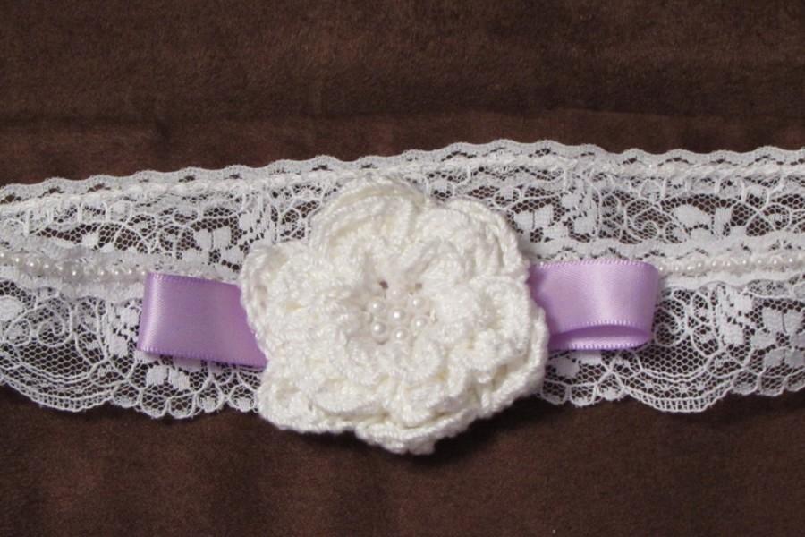 Mariage - Free Shipping Wedding Bridal Garter Bead Crochet Bead Rose Flower