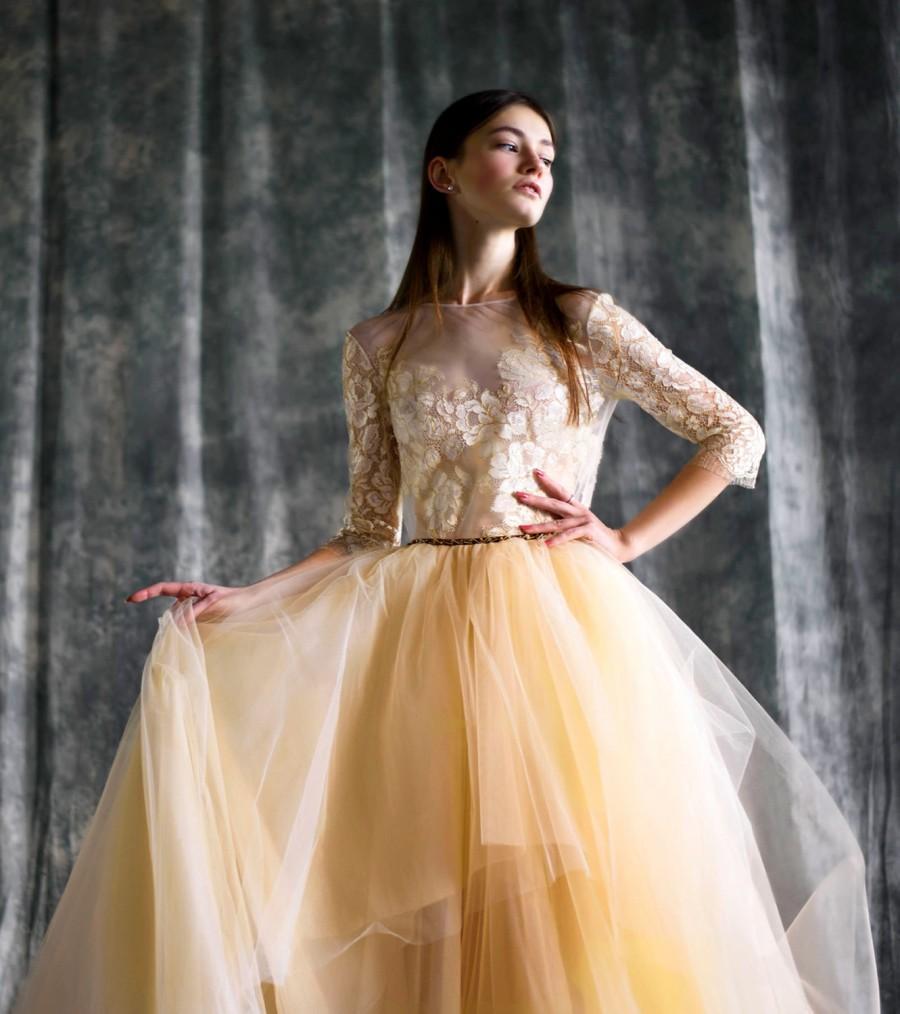 Свадьба - Milk wedding dress - Adeline