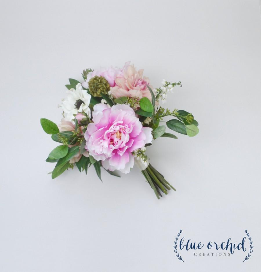 Silk Bouquet Artificial Bouquet Wedding Bouquet Peony Bouquet