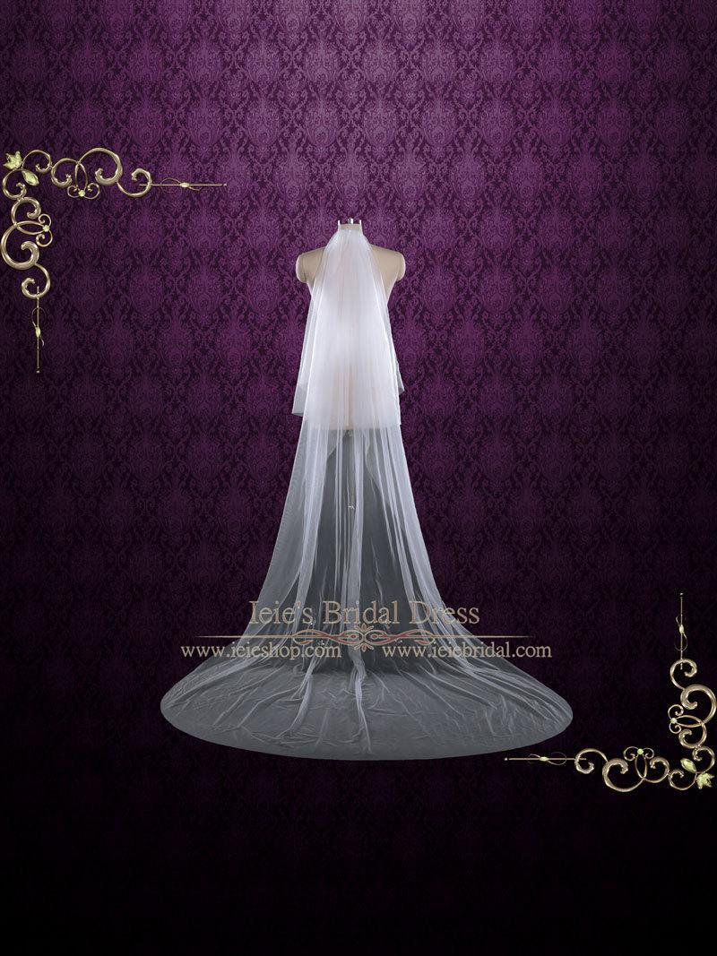 Mariage - Plain Soft Tulle Chapel Veil