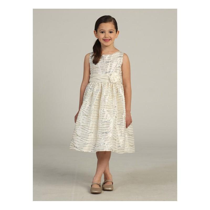 Mariage - Ivory Streamer Sequin Taffeta Dress Style: DSK366 - Charming Wedding Party Dresses