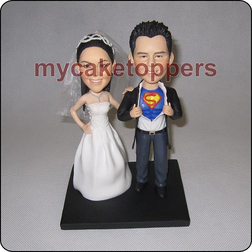 Свадьба - bride and groom custom wedding cake topper form your photo figurine cake topper personalized cake topper birthday cake topper shower