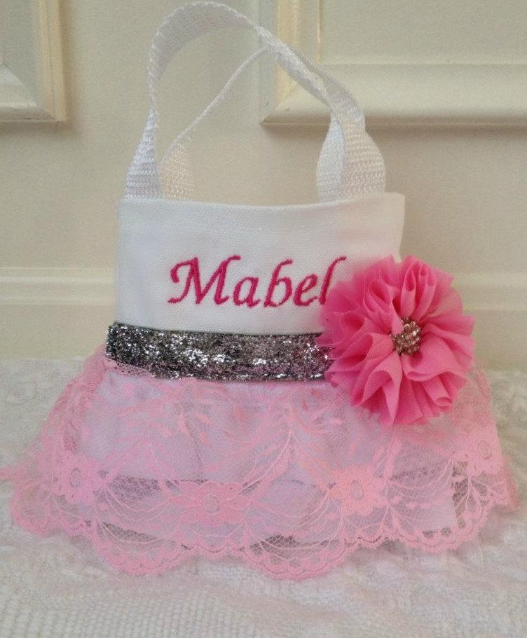 Mariage - Pink Lace Flower Girl Purse, Flower Girl Gift, Birthday Gift
