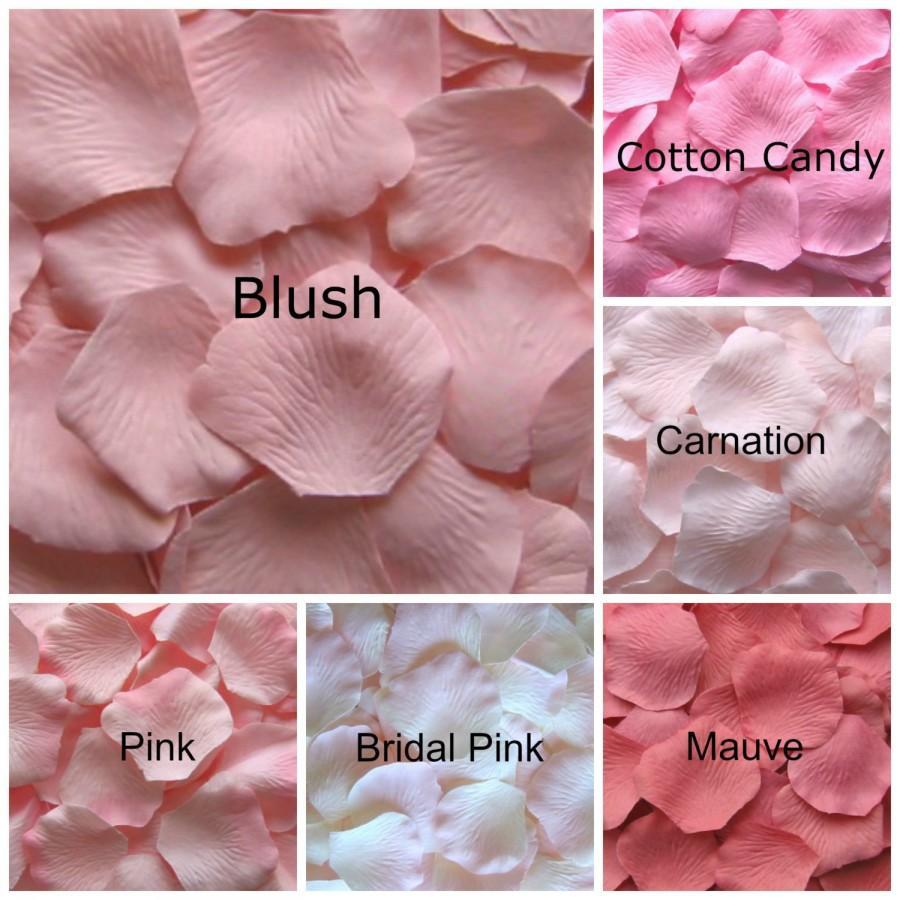 Mariage - Silk Rose Petals, 1200 Pale Pink Petals