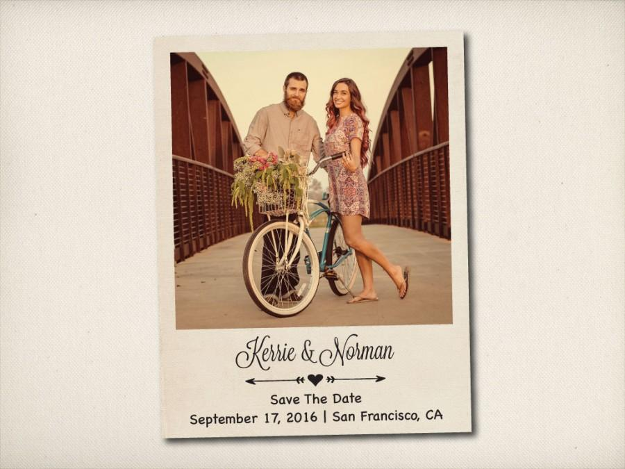"""Свадьба - Save The Date Magnet, Modern Vintage Magnet, Wedding Save The Date, Rustic Save The Date Magnet, 4.25"""" x 5.5"""" Photo Magnets (STDM6)"""