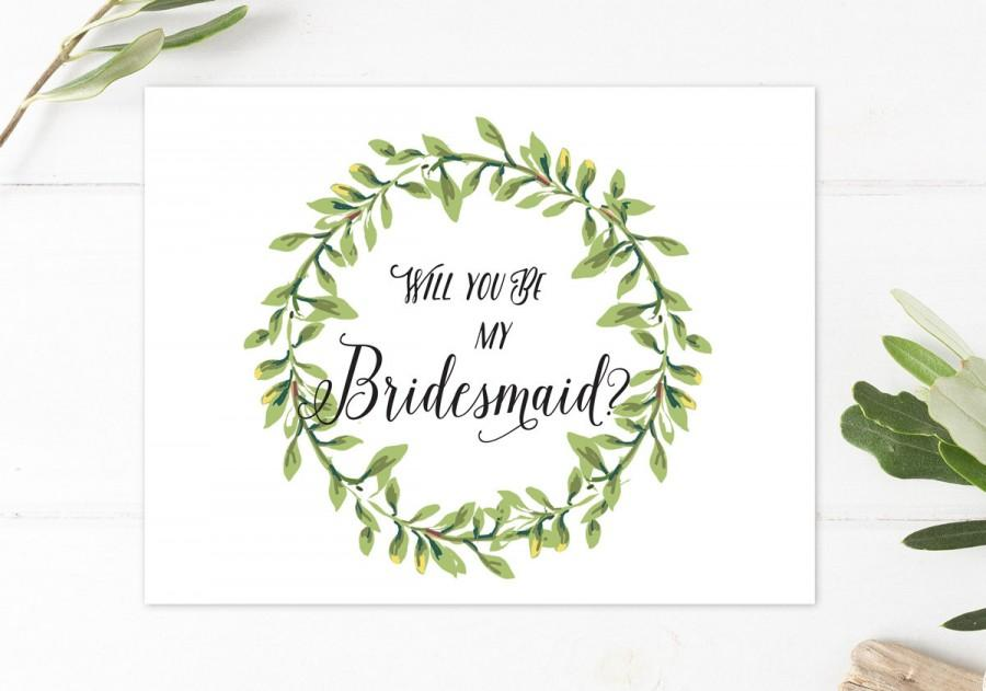 graphic regarding Will You Be My Bridesmaid Printable called Will Yourself Be My Bridesmaid, Rustic Boho Bridesmaid Card, Will