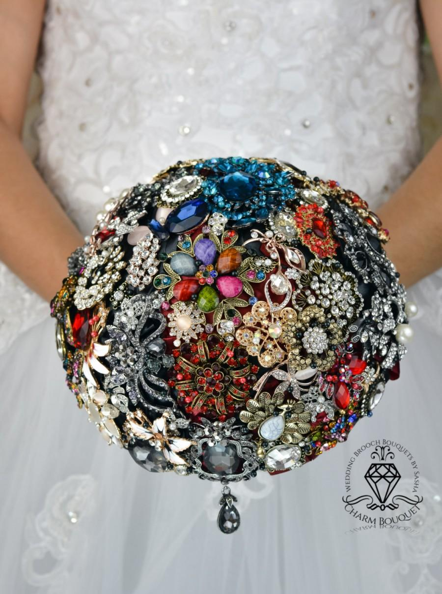Mariage - Wedding Bouquet, Brooch bouquet, Silver bouquet, Bridal bouquet, Pearl bouquet, Black bouquet, Red bouquet, Crystal bouquet, Antique bouquet