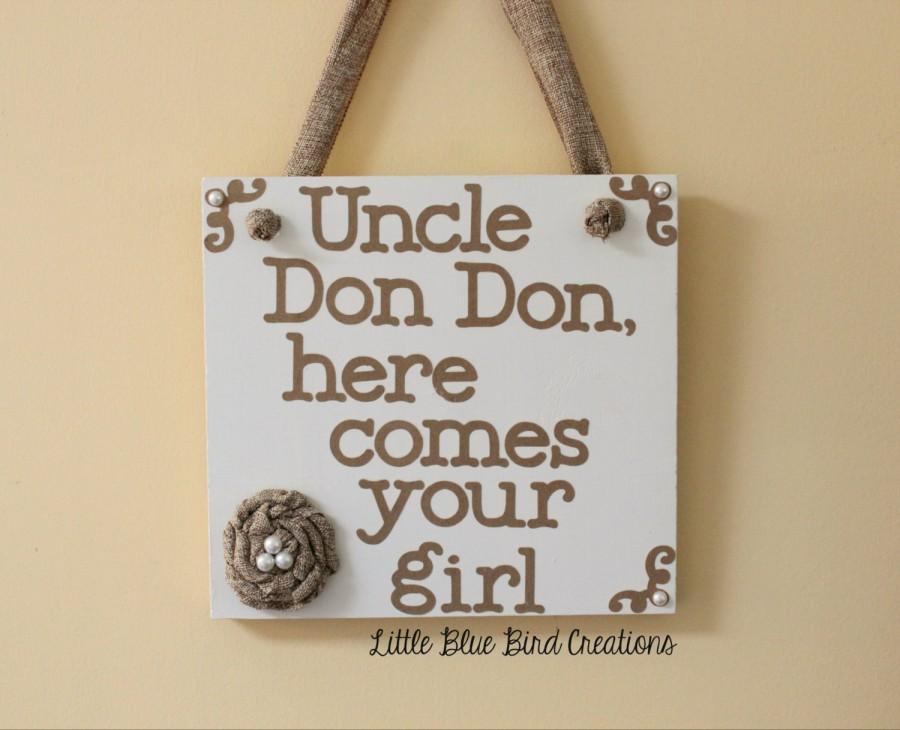 Свадьба - Here Comes Your Girl Here Comes The Bride Wooden Wedding Sign Flower Girl Ring Bearer