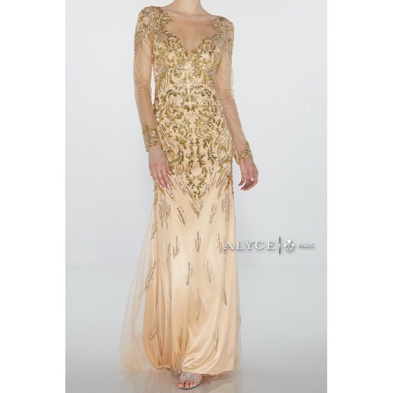 زفاف - Alyce Claudine 2440 Sheer Long Sleeve Gown - Brand Prom Dresses
