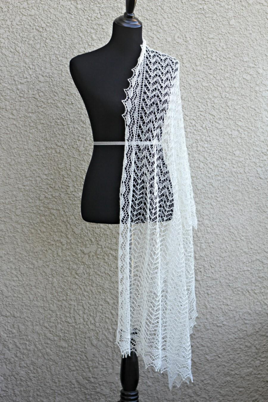 Свадьба - Wedding shawl, lace stole, knit wedding shawl, lace wedding shawl, bridal shawl, gift for her