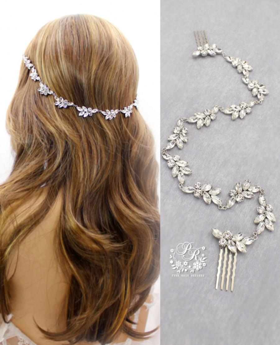 Свадьба - Wedding Hair Comb Rhinestone Bridal Hair Comb Wedding Jewelry Bridal Jewelry Hair Accessory Bridesmaid Hair Comb Daisy