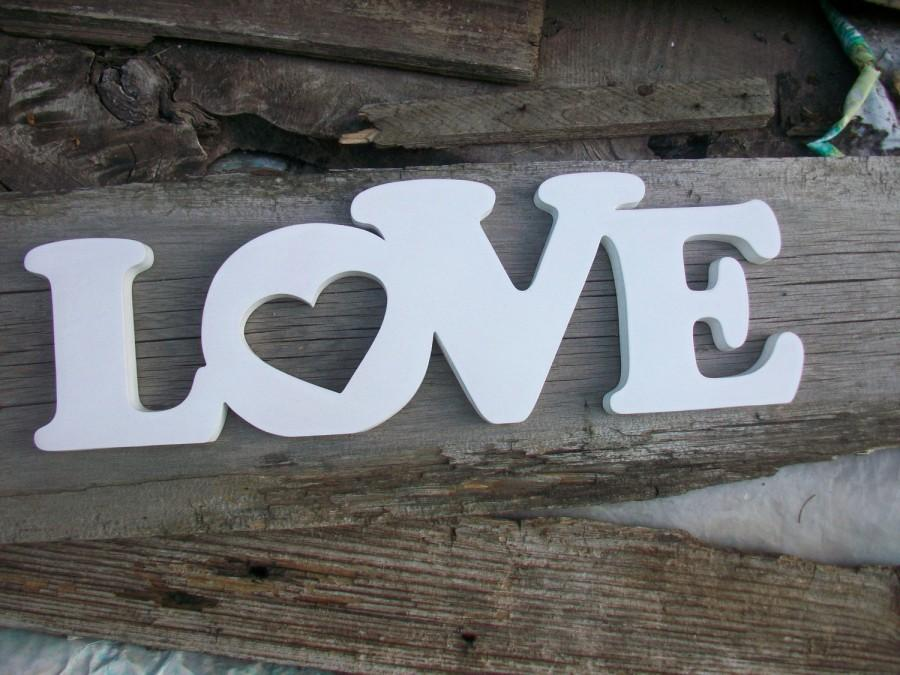 Wedding Sign Letters Wooden Decoration Love Story Gift Table For