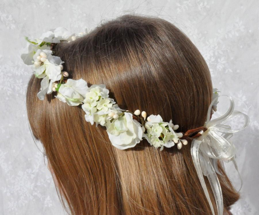 Silk flower wreath first communion wreathwedding flowers ivory silk flower wreath first communion wreathwedding flowers ivory sweet pea hydrangea with berries silk flowers in hollys flower shoppe mightylinksfo