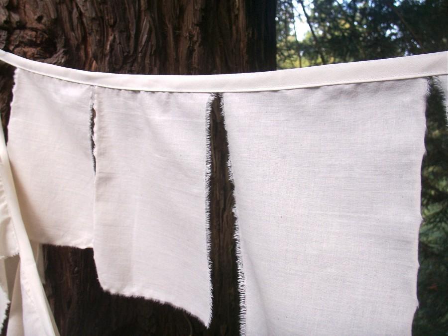 زفاف - Prayer Flag Bunting 1 Strand of Natural Cotton Fabric Flags Ready to personalize. As Seen in BRIDES Magazine for Weddings Decorations