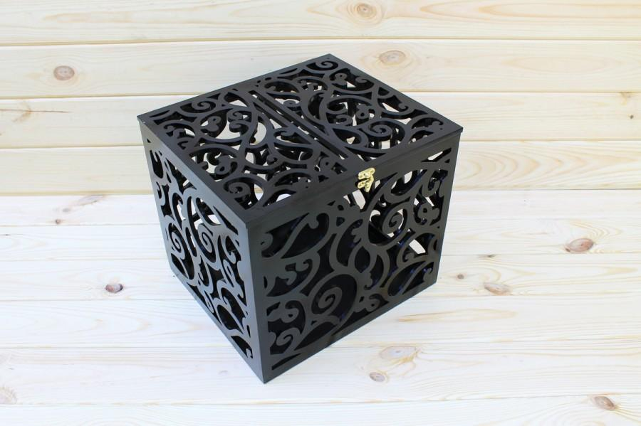 Black Wedding Card Box BIG SIZE-Wedding Gift-Plywood-Keepsake Box-Wedding money box-Wedding card money holder-White Card Holder-Candy box & Black Wedding Card Box BIG SIZE-Wedding Gift-Plywood-Keepsake Box ... Aboutintivar.Com