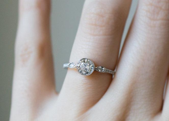 diamond carat half ring leeton engagement