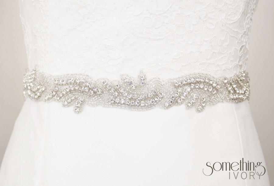 Mariage - CELESTE - Beaded Rhinestone Bridal Wedding Sash