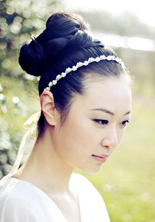 Свадьба - BELLA - Pearl and Rhinestone Bridal Headband