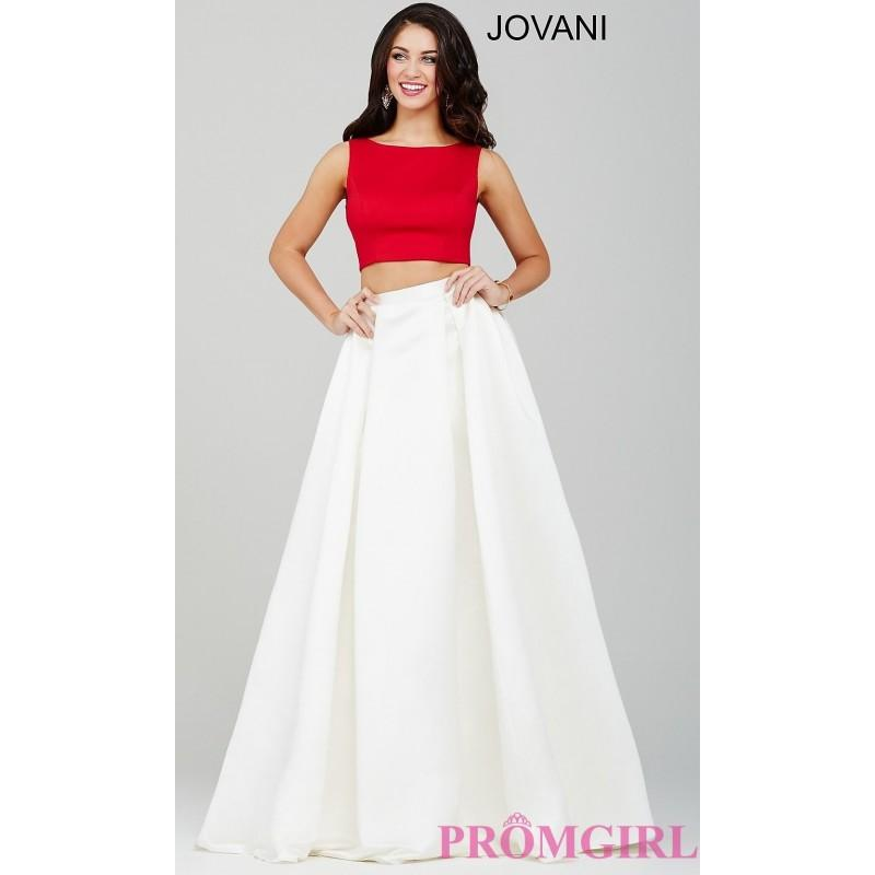 Open Back Two Piece Two Tone Jovani Prom Dress - Discount Evening ...